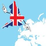 Η Αγγλία είναι έτοιμη να ψηφίσει για εάν να μείνει στην ΕΕ ή όχι Στοκ εικόνες με δικαίωμα ελεύθερης χρήσης