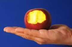 Η δαγκωμένη κόκκινη Apple Στοκ φωτογραφία με δικαίωμα ελεύθερης χρήσης