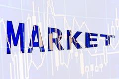 Η αγορά λέξης Στοκ Εικόνες
