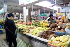 η αγορά της Κίνας το λαχαν& Στοκ Εικόνες