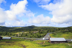 Η αγροτική περιοχή της Νορβηγίας Στοκ φωτογραφία με δικαίωμα ελεύθερης χρήσης