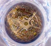 Η αεροφωτογραφία είναι σύγχρονη αστική πόλη στοκ φωτογραφίες