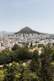 Η Αθήνα και τοποθετεί Lycabettus στοκ φωτογραφίες με δικαίωμα ελεύθερης χρήσης