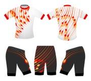 Η αθλητική μπλούζα χρωματίζει το διανυσματικό σχέδιο Στοκ Εικόνα