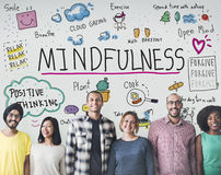 Η αισιοδοξία Mindfulness χαλαρώνει την έννοια αρμονίας στοκ εικόνες με δικαίωμα ελεύθερης χρήσης