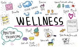 Η αισιοδοξία Mindfulness χαλαρώνει την έννοια αρμονίας διανυσματική απεικόνιση