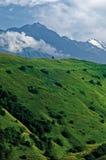 Η αιχμή του βουνού Kazbek Στοκ Φωτογραφία