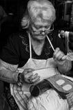 Η αιώνας-παλαιά δαντέλλα βελόνων χειροτεχνίας Burano Στοκ Φωτογραφίες