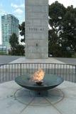 Η αιώνια φλόγα κοντά στη λάρνακα της ενθύμησης στη Μελβούρνη, Αυστραλία Στοκ Φωτογραφία