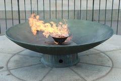 Η αιώνια φλόγα κοντά στη λάρνακα της ενθύμησης στη Μελβούρνη, Αυστραλία Στοκ φωτογραφία με δικαίωμα ελεύθερης χρήσης