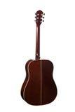 η ακουστική κιθάρα συγκομιδών σωμάτων ανασκόπησης περιλαμβάνει το απομονωμένο λευκό λαιμών υποστηρίξτε την όψη Στοκ εικόνα με δικαίωμα ελεύθερης χρήσης