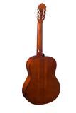 η ακουστική κιθάρα συγκομιδών σωμάτων ανασκόπησης περιλαμβάνει το απομονωμένο λευκό λαιμών υποστηρίξτε την όψη Στοκ Εικόνες