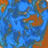Η ακρυλική σύσταση είναι μπλε, λουλάκι Εργασία χεριών για το σχέδιο υποβάθρου στοκ εικόνα