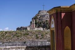 Η ακρόπολη ή το παλαιό φρούριο στην πόλη της Κέρκυρας στο ελληνικό νησί της Κέρκυρας Στοκ εικόνες με δικαίωμα ελεύθερης χρήσης