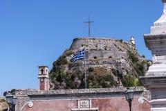 Η ακρόπολη ή το παλαιό φρούριο στην πόλη της Κέρκυρας στο ελληνικό νησί της Κέρκυρας Στοκ Φωτογραφίες