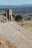 Η ακρόπολη με την Πέργαμο, Τουρκία. Στοκ Εικόνα