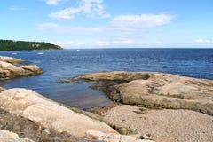 Η ακτή κοντά σε Tadoussac, Καναδάς Στοκ φωτογραφίες με δικαίωμα ελεύθερης χρήσης