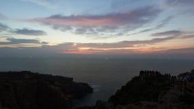Η ακτή πριν από την αυγή Στοκ Φωτογραφίες