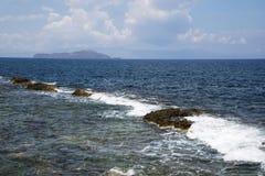 Η ακτή σε Hanya, το νησί της Κρήτης, Ελλάδα Στοκ φωτογραφία με δικαίωμα ελεύθερης χρήσης