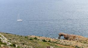 Η ακτή στο ναό Hagar Qim σύνθετο, Μάλτα Στοκ Φωτογραφίες