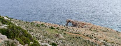 Η ακτή στο ναό Hagar Qim σύνθετο, Μάλτα Στοκ φωτογραφία με δικαίωμα ελεύθερης χρήσης