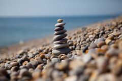 Χαλίκια Chesil στην παραλία, Dorset, UK Στοκ φωτογραφία με δικαίωμα ελεύθερης χρήσης