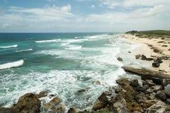 Η ακτή της θάλασσας με τα κύματα Στοκ εικόνα με δικαίωμα ελεύθερης χρήσης