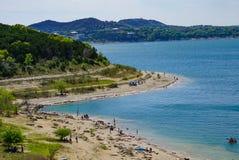 Η ακτή της λίμνης φαραγγιών, Τέξας στοκ εικόνα