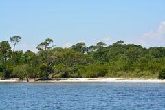 Η ακτή του αερακιού Κόλπων στη κομητεία Φλώριδα Santa Rosa στο Κόλπο του Μεξικού, ΗΠΑ στοκ φωτογραφία με δικαίωμα ελεύθερης χρήσης