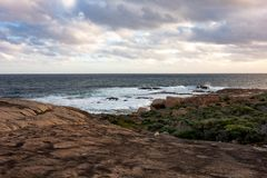 Η ακτή του ακρωτηρίου Leeuwin στη δυτική Αυστραλία Στοκ φωτογραφία με δικαίωμα ελεύθερης χρήσης