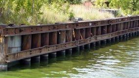 Η ακτή του ευρύ ποταμού, η όμορφη φύση Στοκ Εικόνα