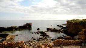 Η ακτή Des Canar σε Ibiza απόθεμα βίντεο