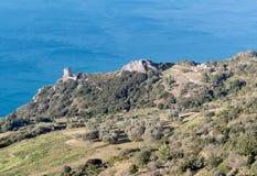 Η ακτή Monte Argentario, Τοσκάνη Στοκ Φωτογραφία