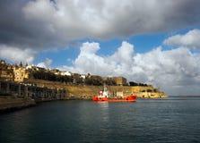 Η ακτή Valletta Μάλτα Στοκ Φωτογραφία