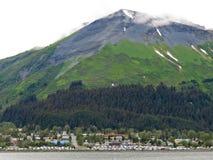Η Αλάσκα επικολλά την προκυμαία Seward μαραθωνίου στοκ εικόνες