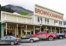 Η Αλάσκα στο κέντρο της πόλης Seward επικολλά το μαραθώνιο στοκ φωτογραφία με δικαίωμα ελεύθερης χρήσης