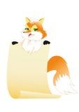 η αλεπού κρατά το έγγραφο Στοκ φωτογραφία με δικαίωμα ελεύθερης χρήσης