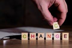 Η αλλαγή είναι μια πιθανότητα συγχρόνως στοκ εικόνες