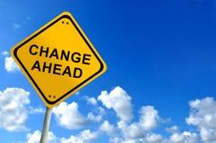 Η αλλαγή υπογράφει μπροστά Στοκ εικόνα με δικαίωμα ελεύθερης χρήσης