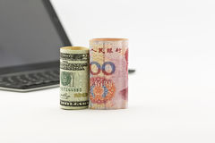 Η Αμερική και η Κίνα επενδύουν στην τεχνολογία Στοκ Φωτογραφίες