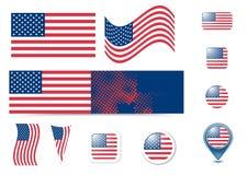 η Αμερική κουμπώνει τα κράτη σημαίας που ενώνονται Στοκ φωτογραφία με δικαίωμα ελεύθερης χρήσης
