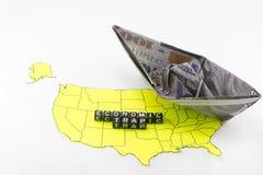 Η αμερικανική οικονομία βύθισης Στοκ Φωτογραφία