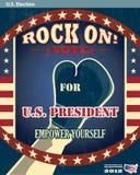 Η αμερικανική προεδρική το 2012 εκλογή λικνίζει την αφίσα ψηφοφορίας Στοκ Φωτογραφία