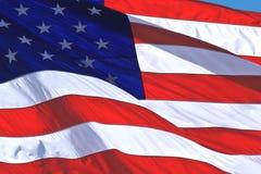 η αμερικανική σημαία δηλών&ep Στοκ εικόνα με δικαίωμα ελεύθερης χρήσης