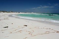 Η αμμώδης παραλία σε Lancelin Shire Gingin Δυτική Αυστραλία Αυστραλοί Στοκ Φωτογραφία