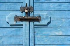 η αμπαρωμένη πόρτα κλείδωσ&epsil Στοκ Εικόνες