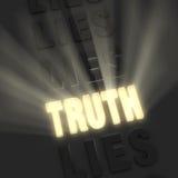 Η λαμπρή αλήθεια, χλωμιάζει τα ψέματα διανυσματική απεικόνιση