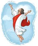 Η ανάβαση της αύξησης του Ιησού παραδίδει τον ουρανό Στοκ φωτογραφία με δικαίωμα ελεύθερης χρήσης