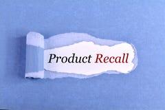 Η ανάκληση προϊόντων κειμένων στοκ εικόνες