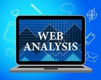 Η ανάλυση Ιστού παρουσιάζει τα στοιχεία Analytics και αναλυτή Στοκ Εικόνα